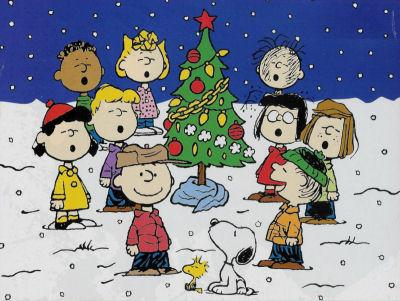 Charlie Brown & The Gang Singing Christmas Carols, with Snoopy