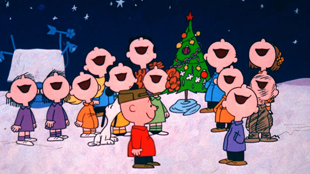 The Charlie Brown Gang Signing Christmas Songs